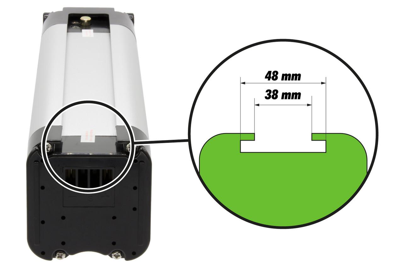 K&J Ersatzakku Batterie 26V 12Ah silber für E-Bike Pedelec Aldi Prophete MiFa Trio Samsung – Bild 7