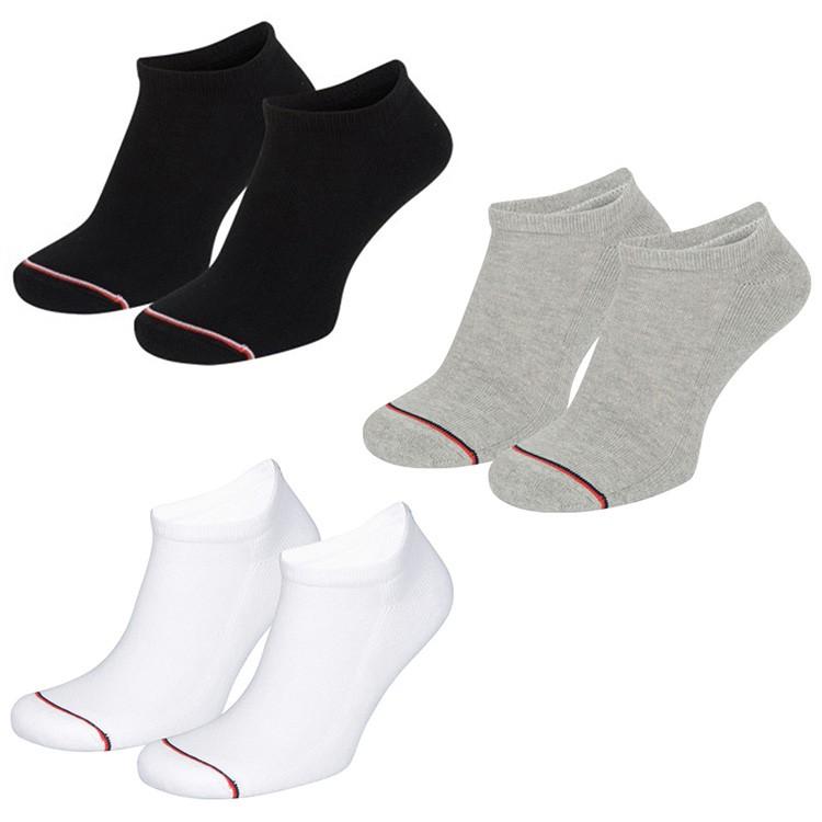 8 Paar Tommy  Hilfiger Unisex Sneaker Socken Schwarz Grau Weiß  35-38 39-42