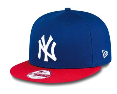 New Era Snapback Cap MLB Cotton Block NY Yankees Blau Rot  Produkt Foto