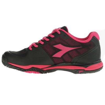 Diadora Damen Tennisschuhe Speed Competition II W SG Schwarz Pink - Thumb 2