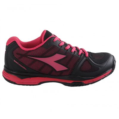 Diadora Damen Tennisschuhe Speed Competition II W AG Schwarz Pink - Thumb 1