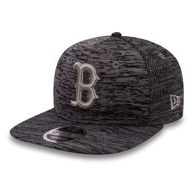 New Era Snapback Cap 9FIFTY Engineered Fit Boston Red Sox Grau Produkt Foto