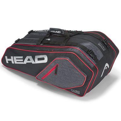 HEAD Core 9R Supercombi Tennistasche Schwarz / Grau / Rot Produkt Foto