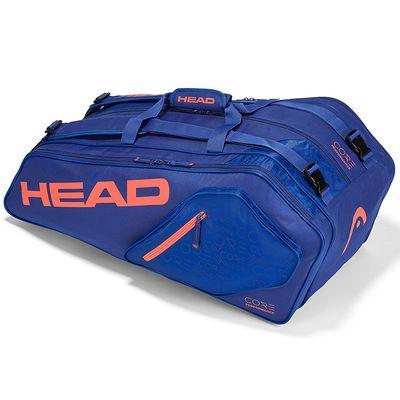 HEAD Core 9R Supercombi Tennistasche Blau / Orange Produkt Foto
