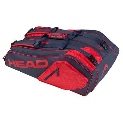 HEAD Core 9R Supercombi Tennistasche Blau / Rot Produkt Foto