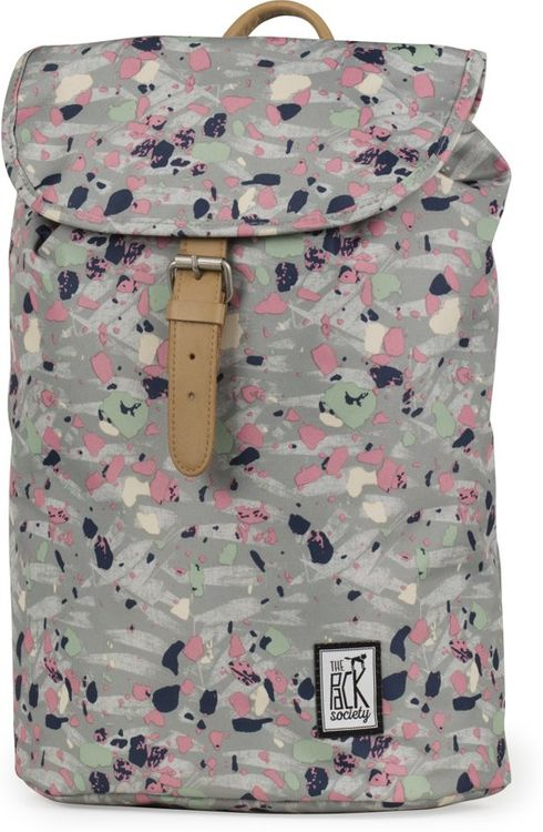 The Pack Society Backpack Grey Speckles Allover Rucksack Grau