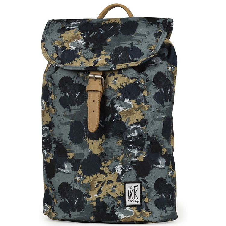 The Pack Society Backpack Grün Camo Allover Rucksack