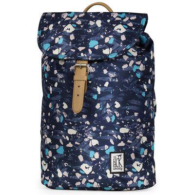 The Pack Society Backpack Blue Speckles Allover Rucksack Blau Produkt Foto