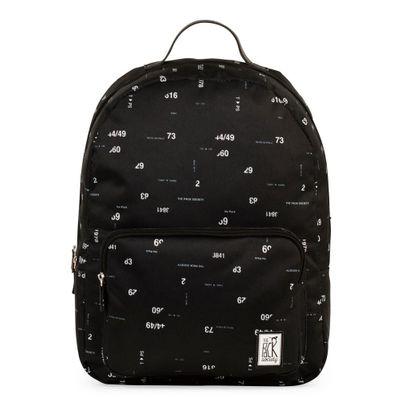 The Pack Society Backpack Black Numbers Allover Rucksack Schwarz Produkt Foto