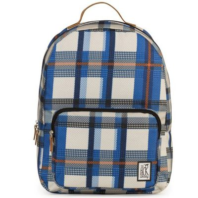The Pack Society Backpack Blue Checks Allover Rucksack - Thumb 2