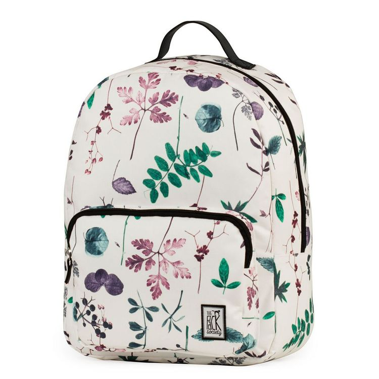 The Pack Society Backpack Multi Colour Flower Rucksack