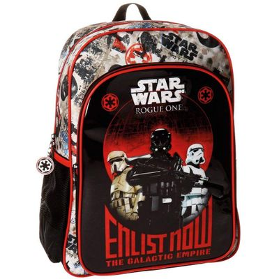 Starwars Roque One Backpack Rucksack Schwarz Rot - Thumb 1