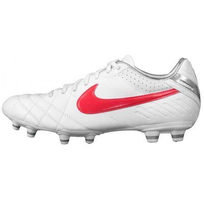 Nike Tiempo Mystic IV FG Kinder Fußballschuh Leder Weiß Produkt Foto