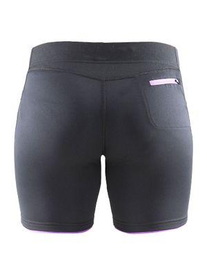Craft Prime Shorts Tights Schwarz / Lila Damen Laufhose Trainingshose Sporthose Produkt Foto