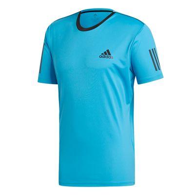 Adidas Club 3 Stripes Tee T-Shirt Herren Blau Schwarz  Produkt Foto