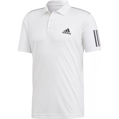 Adidas Club 3 Stripes Polo Herren Weiß Produkt Foto