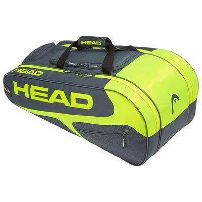 HEAD Elite All Court Tennistasche Schlägertasche Grau Gelb  Produkt Foto