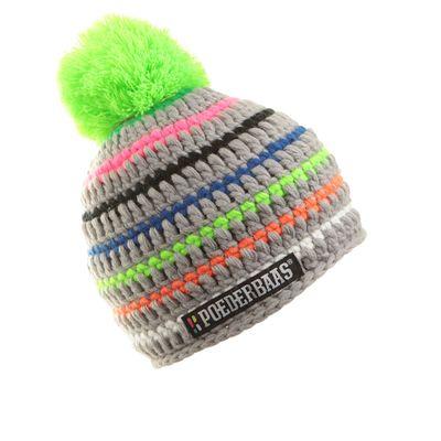 Poederbaas Beanie muts - Roze / Blauw / Groen / Oranje / Wit / Zwart / Grijs  DNABZ13 Produkt Foto