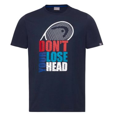 HEAD Club Return T-Shirt Herren Blau Produkt Foto