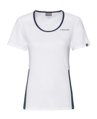 HEAD Club Tech T-Shirt Damen Weiß Blau Produkt Foto