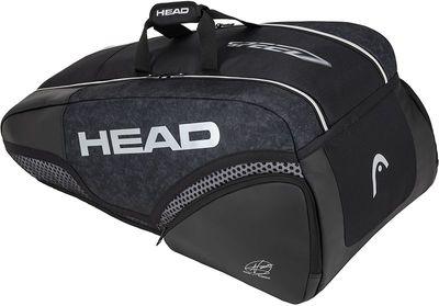 HEAD Djokovic 9R Supercombi Tennistasche Schwarz Produkt Foto