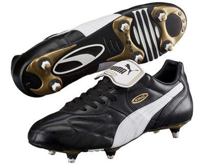 Puma King Pro SG Herren Fußballschuhe Schwarz Weiß Produkt Foto