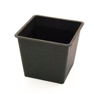Kunststoffeinsatz quadratisch konisch 42x42x38cm schwarz.