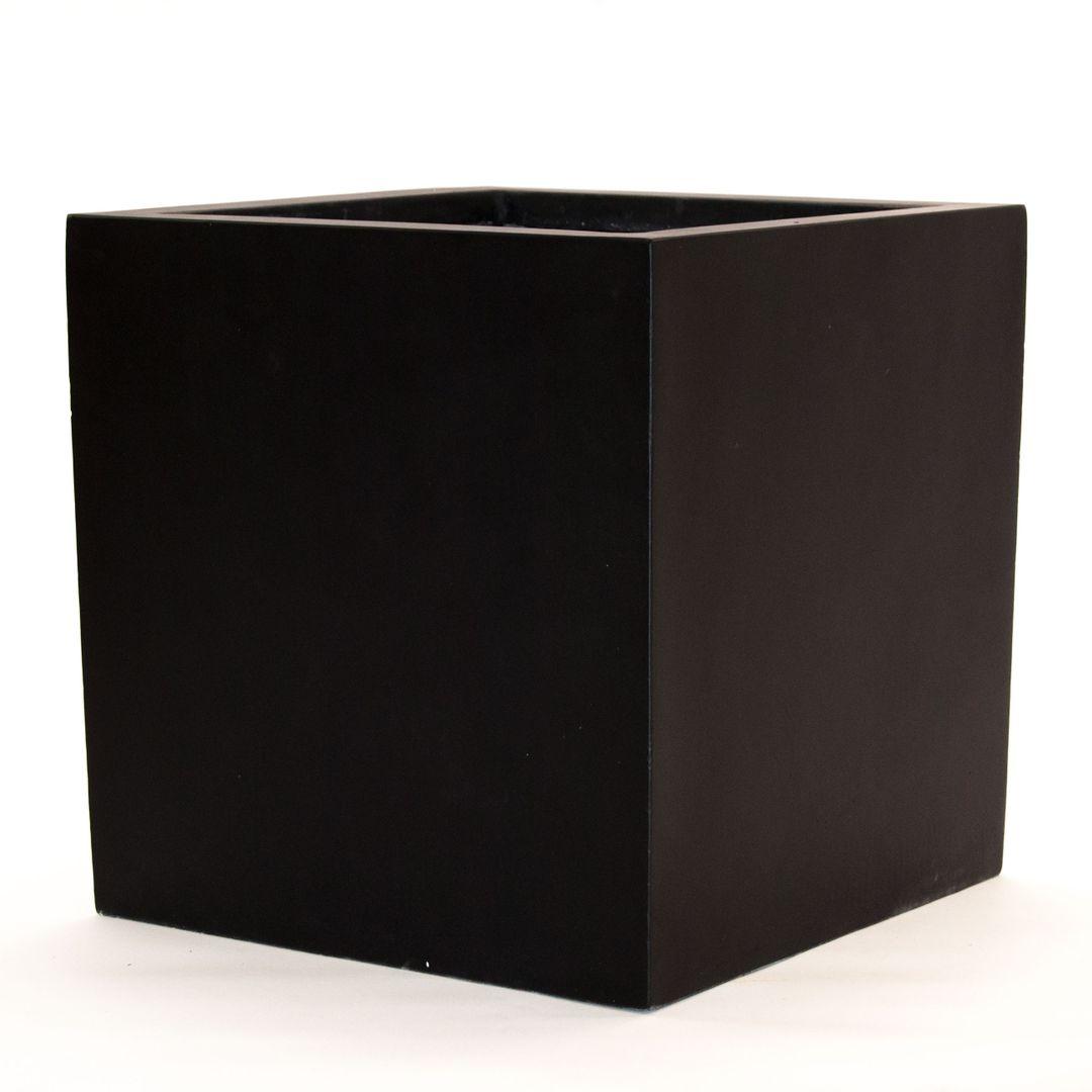 pflanzkübel, blumenkübel fiberglas quadratisch 80x80x80cm elegant