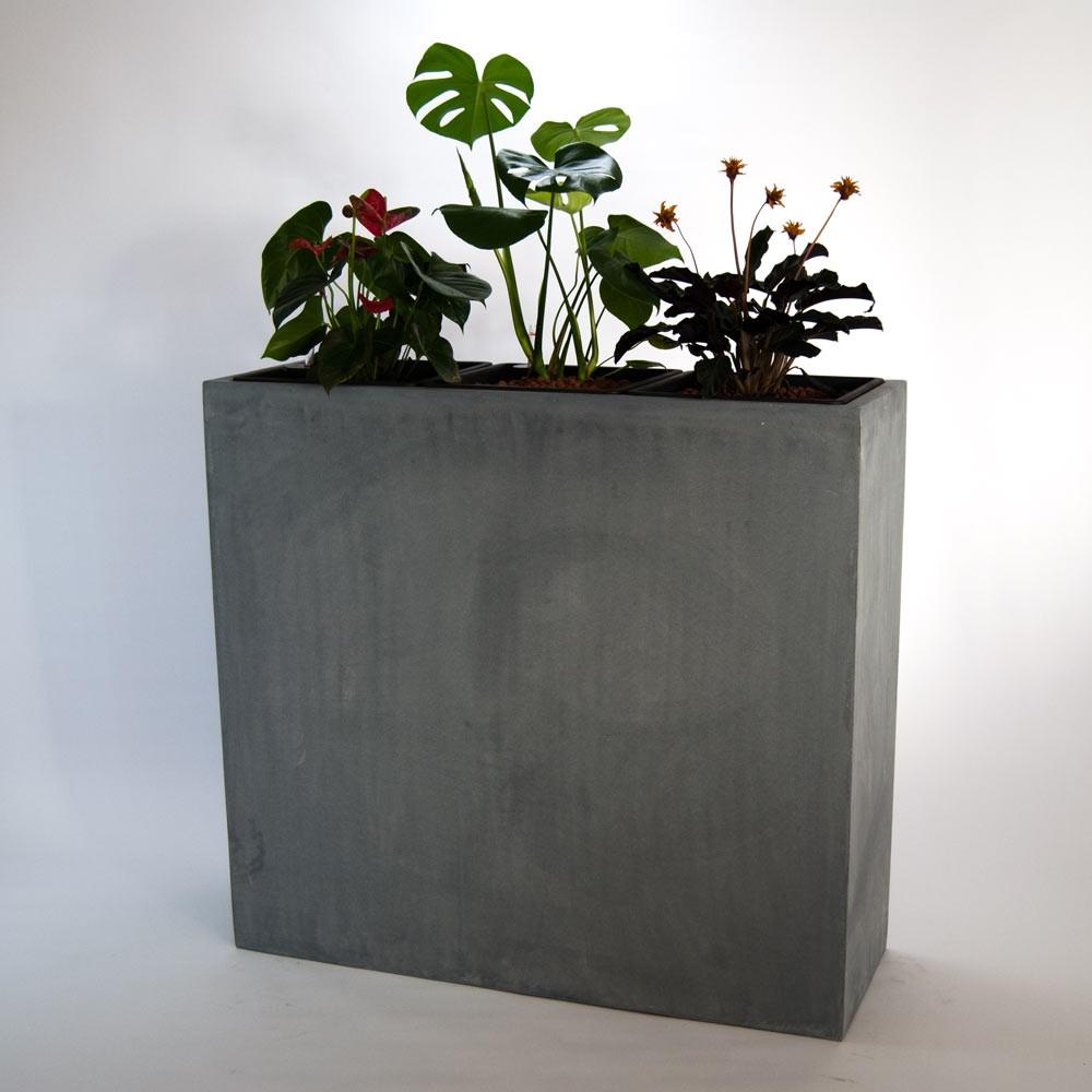 pflanzk bel als raumteiler 108x38x100cm grau. Black Bedroom Furniture Sets. Home Design Ideas