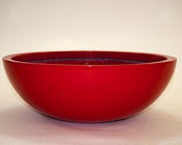 Pflanzschale Fiberglas rund D55xH19cm hochglanz rot