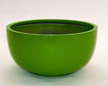 Pflanzschale Fiberglas rund D50xH25cm hochglanz avocado grün