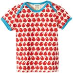Loud+Proud Baby/Mini T-Shirt, Shirt mit Vogel in tomato