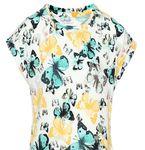 name it Kids Mädchen T-Shirt, Shirt Joka mit Schmetterlingen in bright white