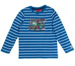 Salt and Pepper Mini Jungen Langarmshirt, Shirt in artic blue mit Traktor