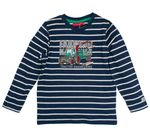 Salt and Pepper Mini Jungen Langarmshirt, Shirt in ink blue mit Traktor