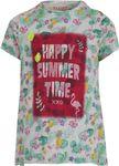 REVIEW Kids Mädchen T-Shirt, Shirt mit Palmen-Druck