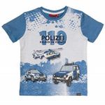 Salt and Pepper Kids Jungen T-Shirt Police Print in french blue