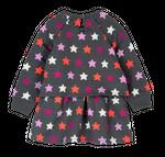 boboli Baby Mädchen Sweat-Kleid, Tunika mit Sternen in mokka Bild 2