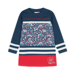BÓBOLI Kids Mädchen Sweat-Kleid, Kleid FLOWER in navy