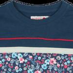 BÓBOLI Kids Mädchen Sweat-Kleid, Kleid FLOWER in navy Bild 4