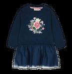 BÓBOLI Kids Mädchen Strick-Kleid mit Tüll FLOWER in navy