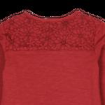 boboli Kids Mädchen Langarmshirt, Shirt mit Blumenmuster in ziegel Bild 4