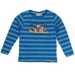 Salt and Pepper Jungen Langarmshirt, Shirt mit Traktor in strong blue