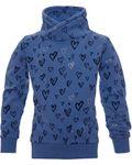 REVIEW Kids Mädchen Sweatshirt, Pullover mit Herz und Glitzer in jeans wash