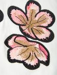 name it Mini Mädchen Langarmshirt, Shirt mit Blumen-Applikation in snow white Bild 3
