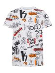 name it Kids Jungen T-Shirt, Shirt BARANO mit Alloverdruck in bright white