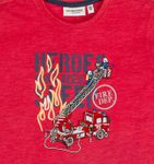 Salt and Pepper Kids Jungen T-Shirt mit Stick Feuerwehr in red melange Bild 3