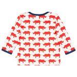Loud+Proud Baby / Mini Jungen Langarmshirt mit Nashorn in cayenne Bild 2