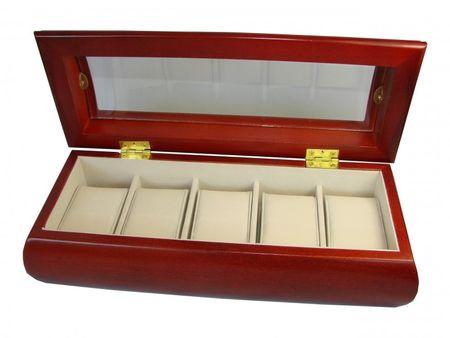 Uhrenbox Adagio Holz Uhrenschatulle Vitrine Uhr  – Bild 2