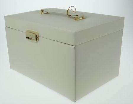 Schmuckkoffer Schmuckkästchen weiß – Bild 4